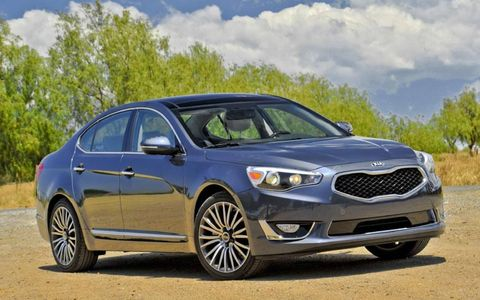 The 2014 Kia Cadenza is powered by a 3.3-liter V6 mated with a six-speed automatic gearbox.
