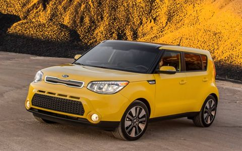 """A playful color palette, including Soul-exclusive colors such as Solar Yellow, Cloud White, Fathom Blue and Inferno Red pump up the dynamic equation that has made Soul such a dominate competitor in the """"boxy"""" car segment."""