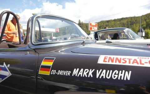 Vaughn is my co-pilot: the author's name on the side of his ride for the duration of the Colorado Grand