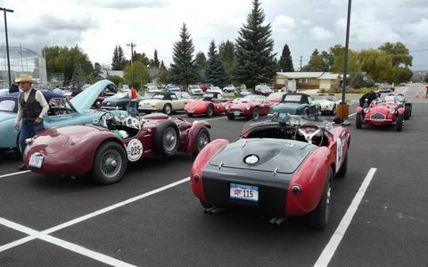 Damp weather early in the event couldn't dent attendance: everything from a pair of BMW 328s to a Cunningham made the trek through the Rockies.