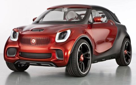 The Smart forstars concept previews the look of the next generation of Smart cars.