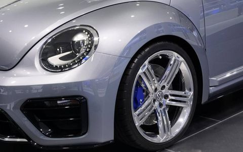 A detail close up of the Volkswagen Beetle R concept shown at Frankfurt