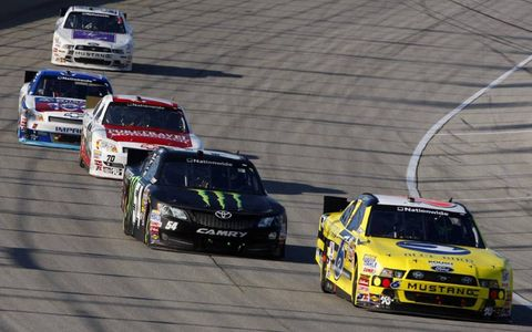 Stenhouse Jr. held on for the win on Saturday.