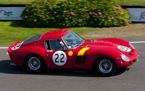 A 1962 Ferrari 250 GTO driven by Mark Hales and Jean Alesi.