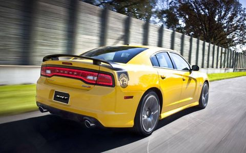 The real story is the monster 470-hp V8, which sounds great and growls but isn't obnoxious.