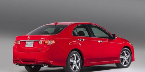 The 2014 Acura TSX gets either a 201-hp four-cylinder engine or a 280-hp V6.