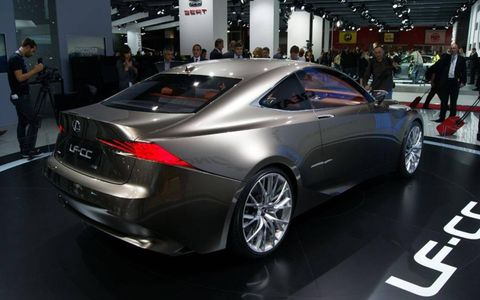 The Lexus LF-CC concept car debuted at the Paris motor show on Thursday.