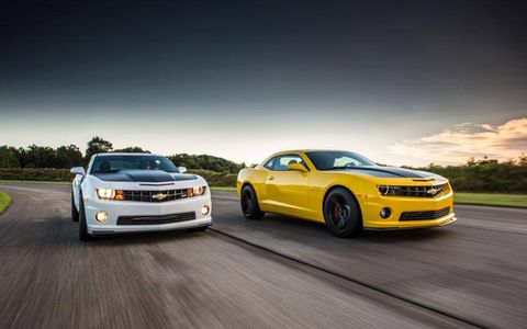The 2013 Camaro 1LE takes aim at the Ford Mustang Boss 302.
