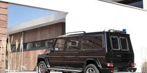 The Mercedes-Benz G-class BINZ XXL has sliding rear passenger doors.