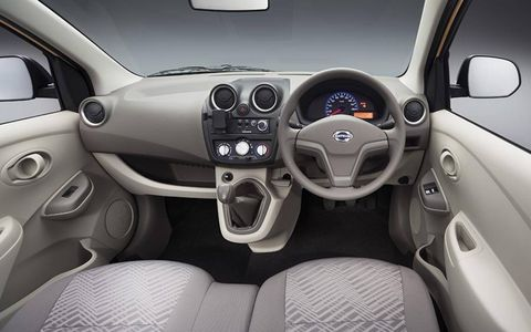 The interior is basic, but the car is supposed to retail below $8,700.