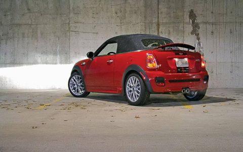 The 2012 Mini Cooper S Roadster has a turbo-charged 181-horsepower output.