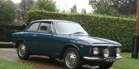 The 1964 Alfa Romeo Giulia Sprint GT -- proof that buying a car in Europe and shipping it back to America can work.