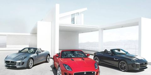 A trio of Jaguar F-Types leaked before its Paris motor show debut.