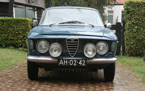 Lots of lights on our Euro Alfa Giulia Sprint GT.