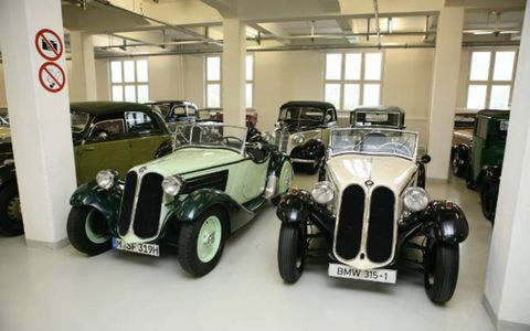A pair of BMW 315s from the 1930s.