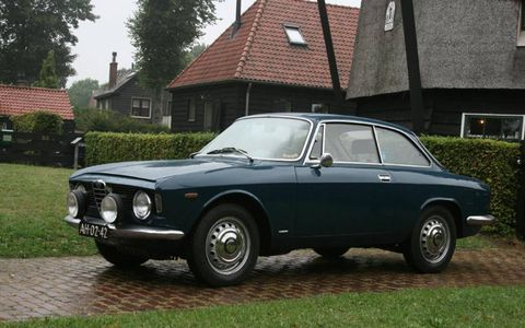 The logistics of buying an old car in Europe, like this Alfa Sprint GT, are challenging but easily overcome.