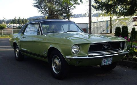 Press shot of the 1968 Ford Mustang