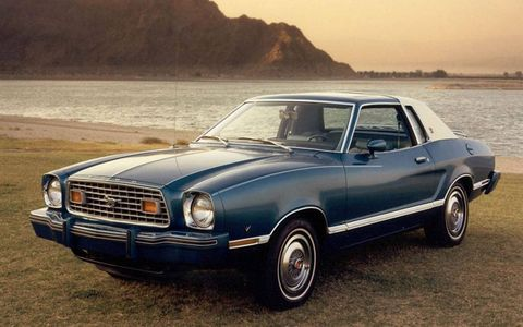 Press shot of the 1977 Ford Mustang
