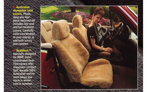 We can't imagine why the owner of a new BMW would want to go all Manny Moe, and Jack with these seat covers.