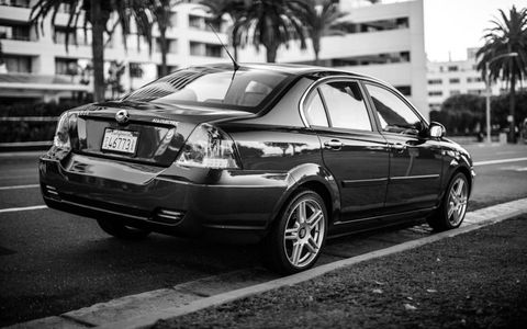 2012 Coda Sedan, Santa Monica, California.