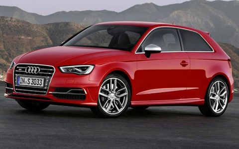 A front view of the Audi S3.