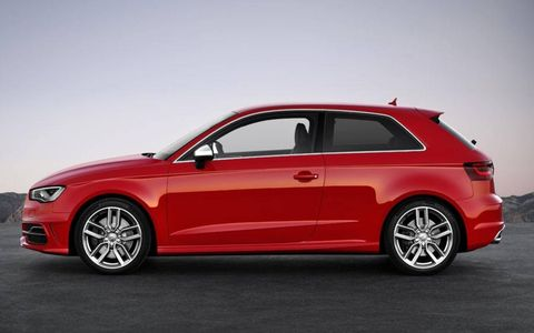 A side view of the Audi S3.