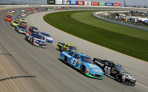 2012 GEICO 400 at Chicagoland Speedway: Jimmie Johnson and Aric Almirola start