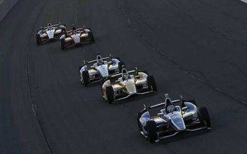 2012 IndyCar Fontana: Alex Tagliani and Ryan Hunter-Reay