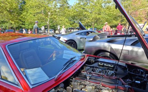 Front-engined or mid-engined, scissor doors or regular, classic or new: visitors could take their pick from a variety of high-dollar high-performance cars.