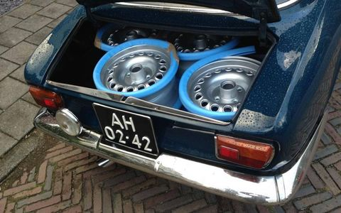 New wheels came from Classic Alfa; Alfaholics discontinued the GTA-spec 14-by-7 wheels of our dreams, and track-ready magnesium units cost $1,000 each.