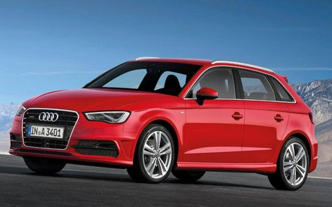 A front view of the Audi A3 Sportback.
