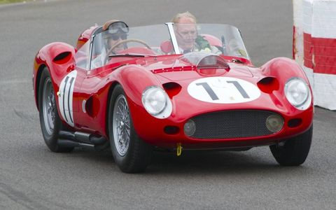 Tony Brooks drove Dan Gurney around the Goodwood Circuit in the 1959 Ferrari 250 TR59/60 the two co-drove in the 1959 Goodwood TT.