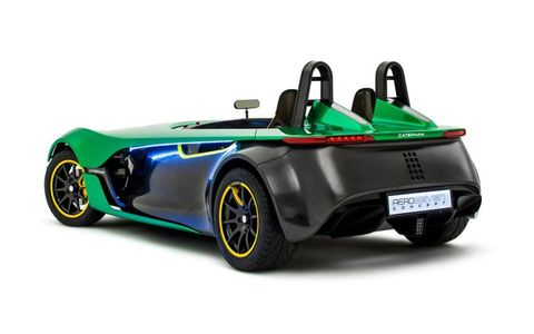 The Caterham AeroSeven uses a 2.0-liter Ford Duratec engine.