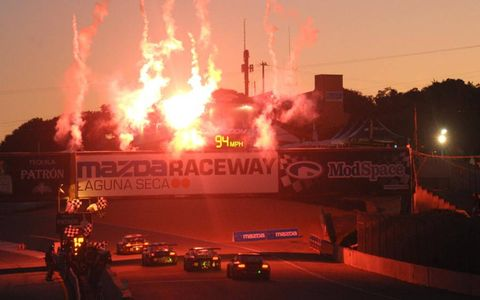 Highway to Hell?//Nope, just fireworks celebrating the end of the American Le Mans Series' six-hour endurance race at Mazda Raceway Laguna Seca, the penultimate round of the year.