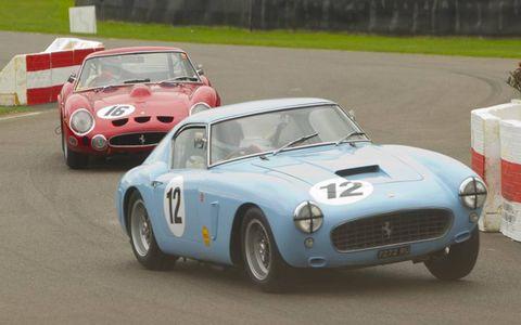 1960 Ferrari 250 GT SWB/C followed by a 1961 model