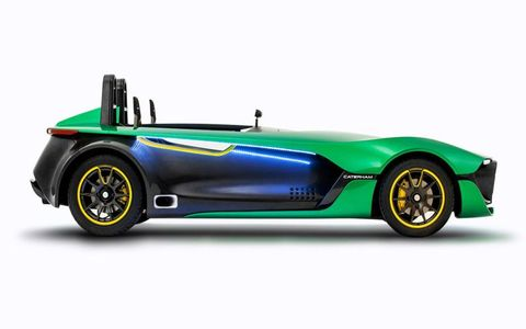 The Caterham AeroSeven Concept weighs in at about 1,200 pounds.