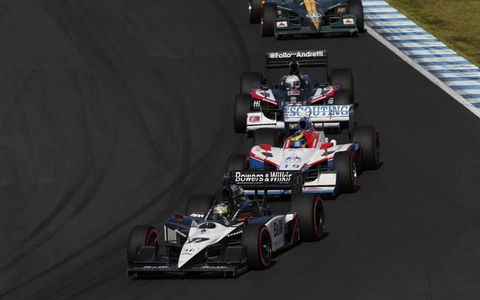 Twin Ring Motegi, Japan: Alex Tagliani leads Sebastien Bourdais, Mike Conway and EJ Viso.