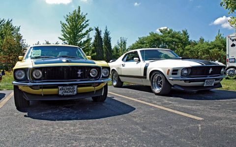 The 1969 and 1970 Ford Mustang Boss 302's that caught this authors attention.