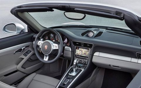 Porsche 911 Turbo Cabriolet interior.