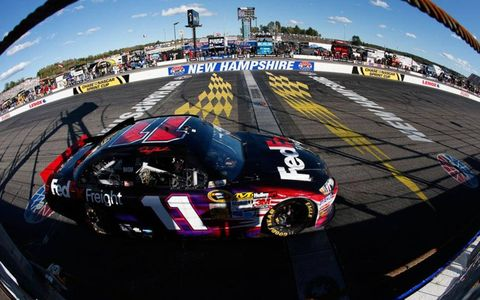 Denny Hamlin left New Hampshire third in the Sprint Cup Series points hunt.