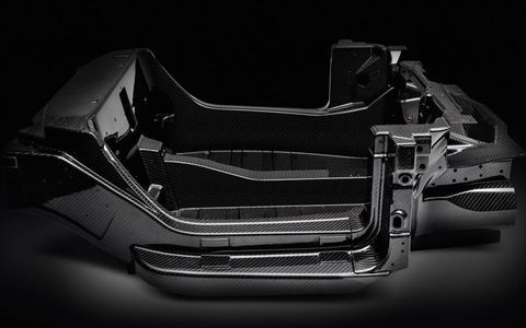 The carbon-fiber chassis tub at the heart of the Alfa Romeo 4C weighs just 143 lbs.