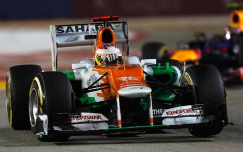 Paul di Resta finished a surprising fourth in Singapore.