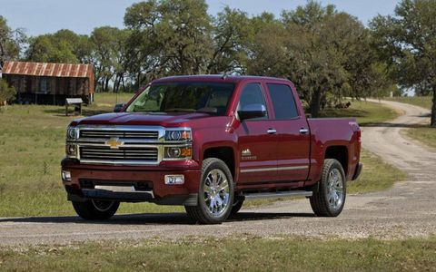 The The 2014 Chevy Silverado High Country gets a choice of two V8 engines.