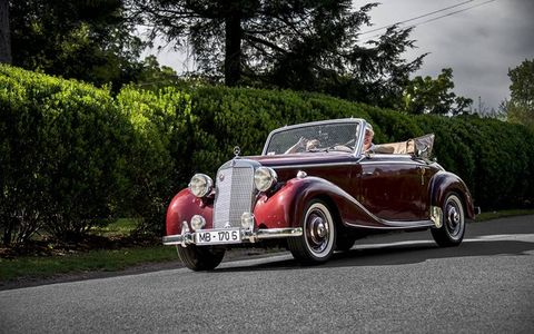 When was the last time you saw one of these Mercedes-Benz 170S Cabriolets?