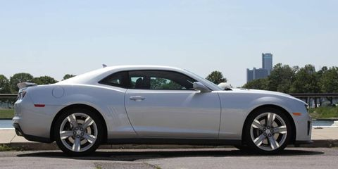 The 2012 Chevrolet Camaro ZL1 competes with the Ford Mustang GT500.
