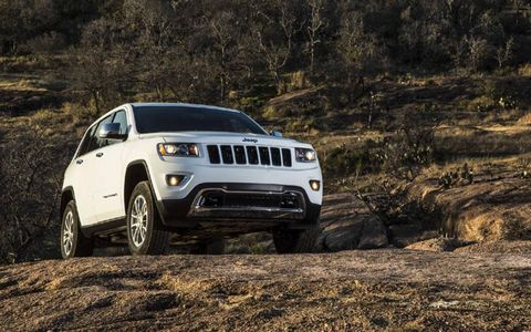 The 2014 Jeep Grand Cherokee Overland receives an EPA-estimated 19 mph combined fuel economy.