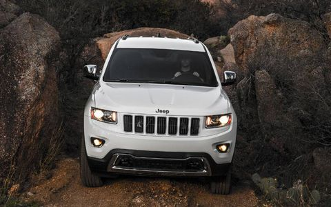 Our 2014 Jeep Grand Cherokee Overland received the optional advanced technology package that included adaptive cruise control, forward collision warning and other driver assists.