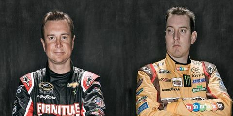 Kurt Busch, left, and Kyle Busch, right, have a reputation for being the bad boys of NASCAR? Is it deserved?