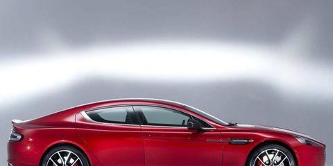 The 2014 Aston Martin Rapide S has an All-alloy, quad overhead camshaft, 48 valve, 5,935cc, V12 engine.
