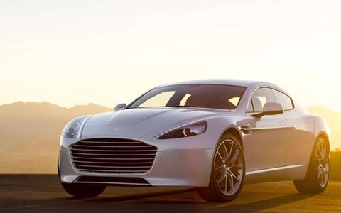 The 2014 Aston Martin Rapide S goes from 0-60 in about 4.9 seconds.